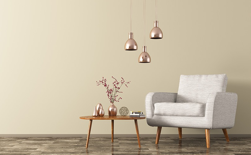 Rose gold pendant lights