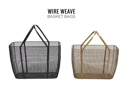 Nolden Bros Wire Weave Basket Bags