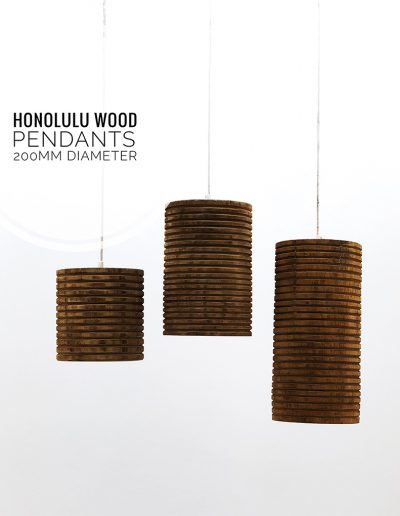 Nolden Bros Honolulu Wood Pendant