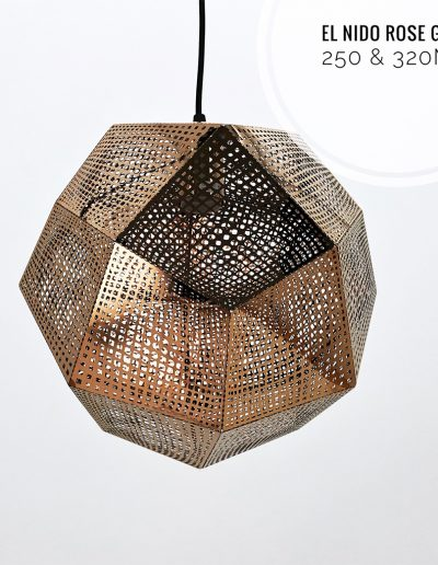 Nolden Bros El Nido Rose Gold Pendant Light
