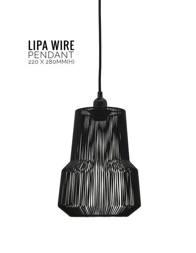 Nolden Bros Black Lipa Wire Pendant Light